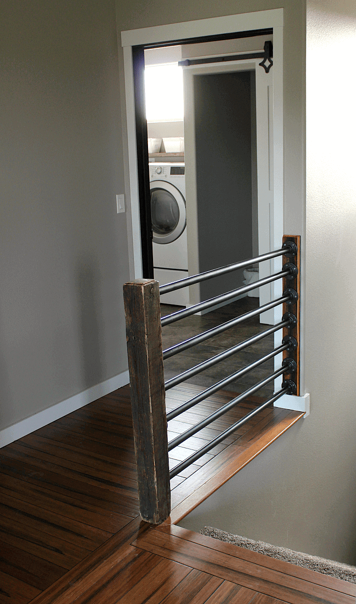 finished-banister-from-dining-room