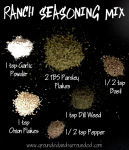 All the ingredients for a homemade ranch seasoning mix.