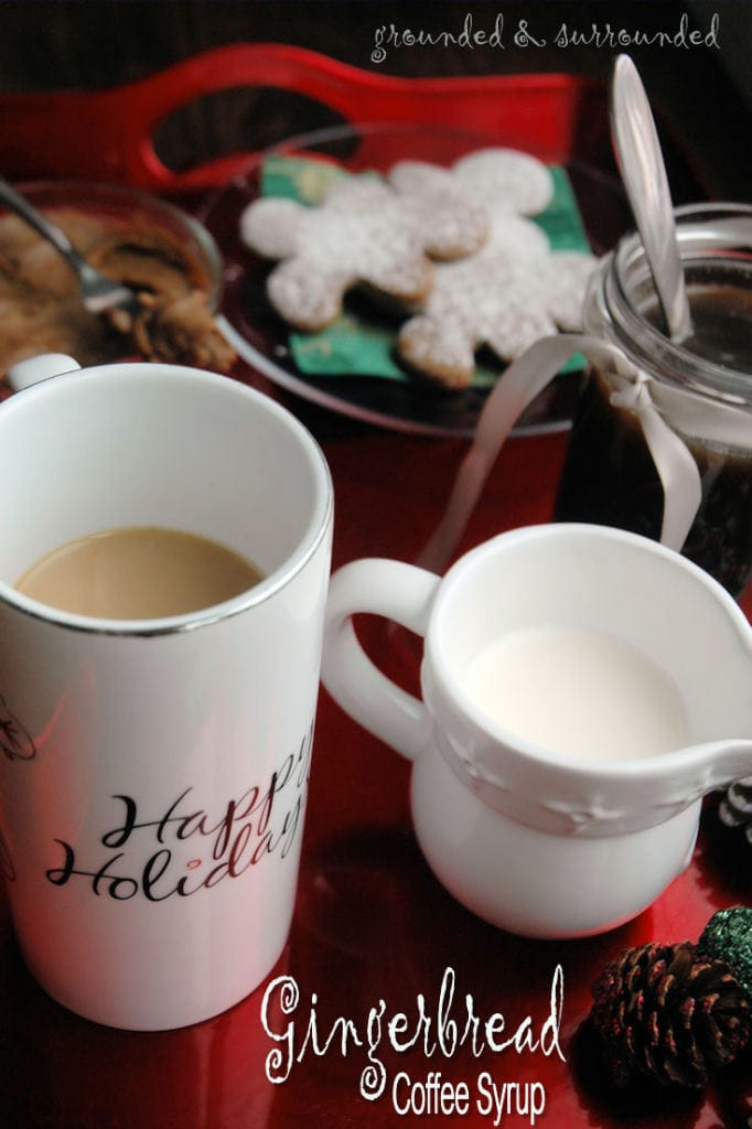 Gingerbread Coffee Syrup Celebrate the season with this delicious and festive holiday coffee syrup. Put a tablespoon or two of this syrup in your coffee along with some Half and half and you will have the most delightful, sweet, and festive hot mug of goodness you have ever tasted. https://happihomemade.com/recipe/gingerbread-coffee-syrup/