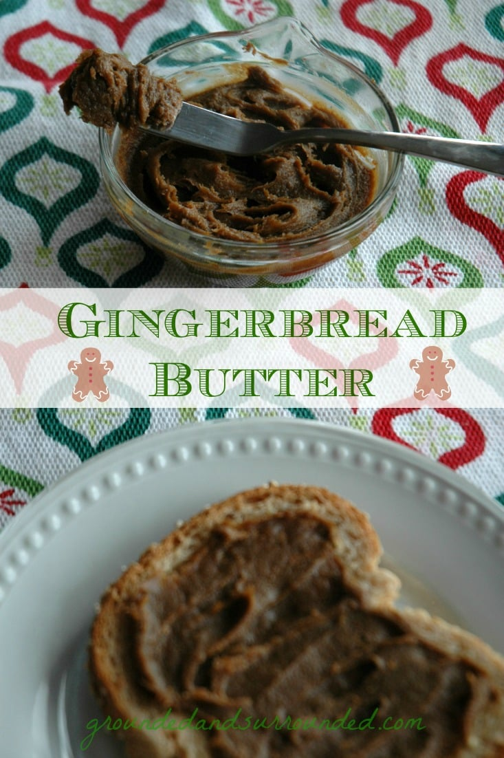 Move over Cookie Butter, it's Gingerbread Butter time!! Your life will be forever changed after making this. Ahhh-mazing!!!! |Grounded and Surrounded