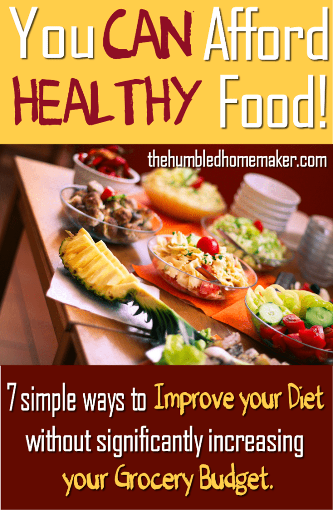 There is always a way to make room in your budget for healthier food. It may not be simple or convenient, but it is ALWAYS possible. Start with these 7 simple steps. https://happihomemade.com/can-afford-healthy-food/