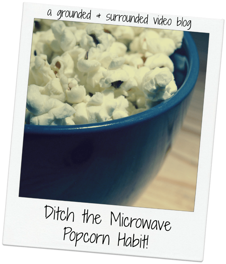 If you like your popcorn to be GMO laced with pesticides and served with a side of soybean oil and artificial flavors, then by all means stick with the microwave stuff.  But if you want to have a healthy, organic snack, switch to the air popper....you will NEVER GO BACK! groundedandsurrounded.com