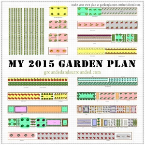 An image of a 2015 gardening plan.