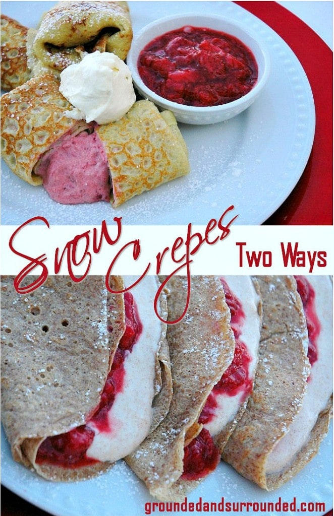 Let it Snow in the Kitchen! Two healthy, easy, and delicious crepes recipes using SNOW as one of the ingredients. Perfect menu item for breakfast or brunch! We will not only show you how to make these sweet little crepes, but the creamy filling and tangy fruit compote recipes too!