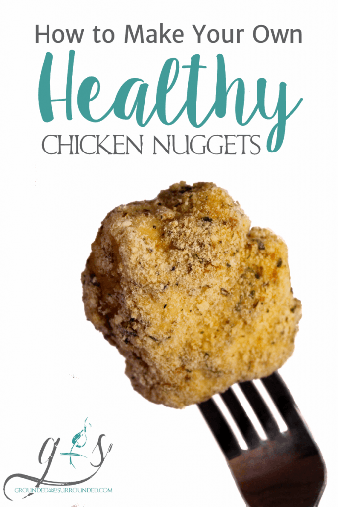 "Learn how to make your own healthy baked chicken nuggets with the girls at Grounded and Surrounded! This easy meal is homemade, gluten-free, simple to prepare, and taste amazing! Totally kid-friendly and perfect for the ""big"" kids as well! ;) http://www.groundedandsurrounded.com/recipe/healthy-homemade-chicken-nuggets/"