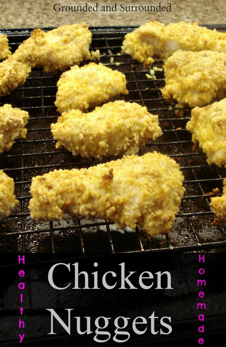 Who doesn't love chicken nuggets? These are homemade, gluten-free, simple to prepare, and taste amazing! Both you and the kids will love them! Groundedandsurrounded.com
