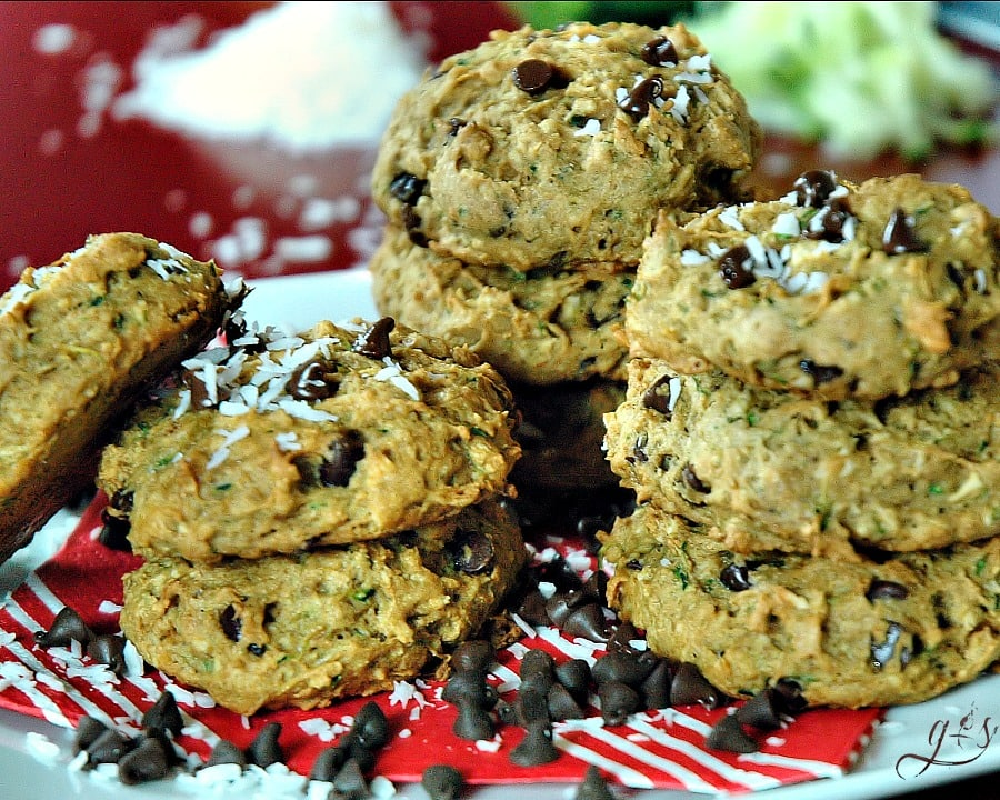 Zucchini Coconut Cookies