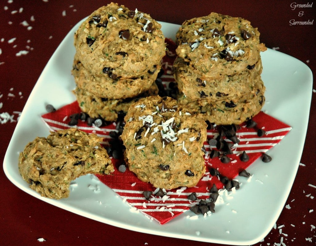 These easy, healthy, & gluten free Coconut Zucchini Cookies will quickly become your favorite treat! We used coconut three different ways in this clean eating recipe- oil, shreds, and sugar! Combine this with the chocolate chips and it created a sweet little indulgence perfect for an easy breakfast, snack, and most certainly dessert! These are easily the BEST skinny whole foods cookies out there!