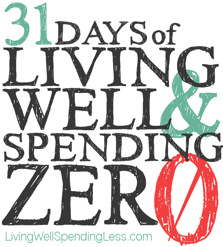 Beginning October 1st, Ruth Soukup from Living Well Spending Less is inviting us to join her for the 31 Days of Living Well & Spending Zero Challenge at www.livingwellspendingless.com
