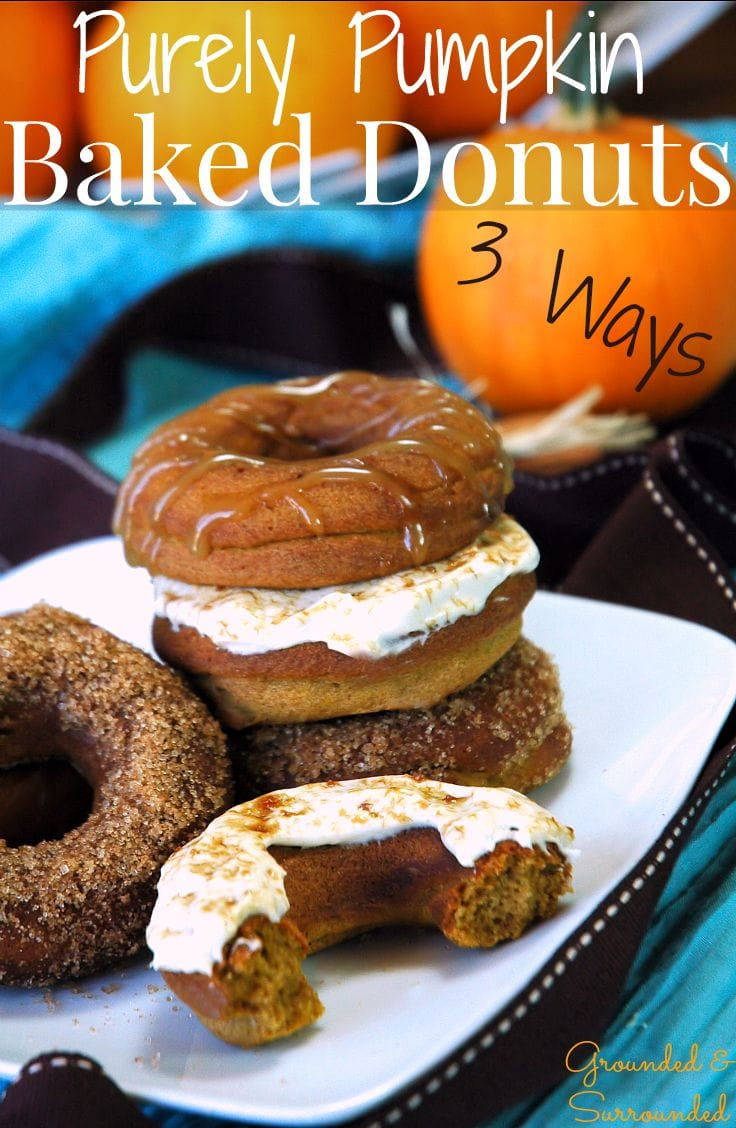 Purely Pumpkin Baked Donuts | How sweet it is to bake healthy, gluten free, and homemade donuts with all the flavors of fall! This seasonal breakfast recipe is packed with flavor, yet low in calories. The best part about these skinny baked treats is that you can choose your favorite of 3 toppings recipes! These is a perfect option for anyone choosing an easy clean eating or whole foods lifestyle!