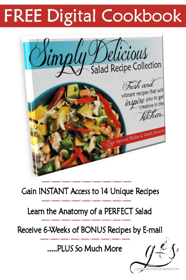 "This FREE digital cookbook is full of unique and healthy salad recipes that will inspire you to get creative in the kitchen. Plus, we show you ""The Anatomy of a Salad"" to help you achieve a yummy salad every time! BONUS - 6 weeks of additional recipes sent straight to your inbox."