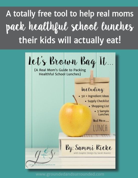 A Real Mom's Guide to Packing Healthy School Lunches | This free download not only includes a list of 50+ lunchbox ingredient ideas but also lays out the anatomy of healthy school lunches. PLUS 5 practical and easy make ahead meal tips complete with our favorite recipes for even your picky eaters!