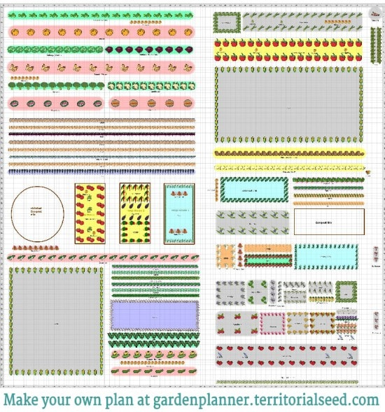 I have often wished that more large-scale gardeners shared their plans online, don't you? Click through to view a closeup of my 5,000+ Zone 4 Food Garden Plan PLUS a review of last year's plan including a brief video slideshow, comprehensive plant list {including 45 fruits & vegetables and 25 herbs and flowers} and a free downloadable planting calendar for zone 4.