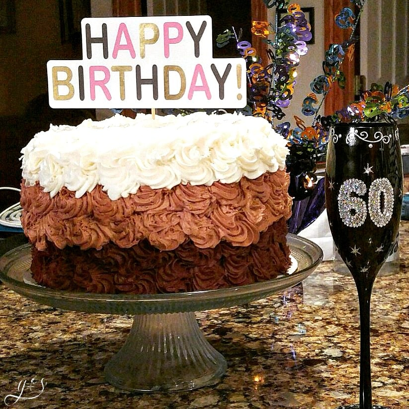 Mom's 60th Bday Death by Chocolate Cake
