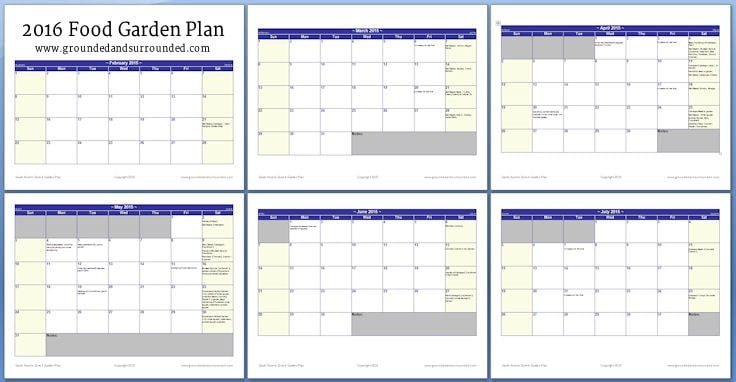 A calendar outlining when to plant in Zone 4.