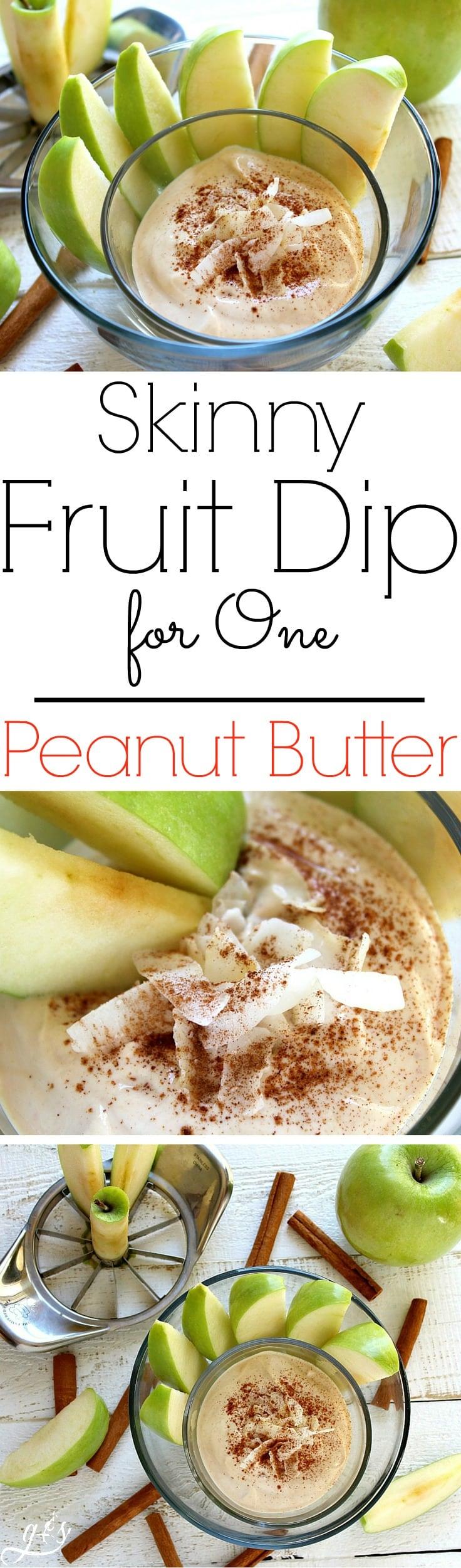 Skinny Fruit Dip for One  Peanut Butter
