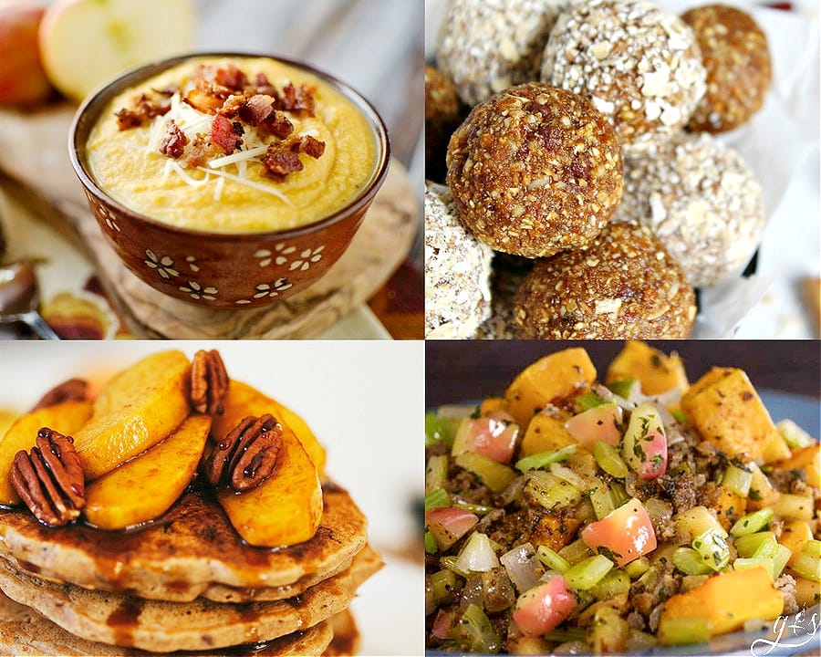 The 25 BEST Clean Eating Fall Recipes | Autumn is my favorite season to cook quick and easy meals. You will find delicious breakfast, healthy dinner, lunch, desserts and snack ideas. Not to mention soup, stew and drinks that use pumpkin (where are my pumpkin spice lovers?!), apple, brussels sprouts and crockpot squash recipes to satisify your need for comfort food without the guilt! Most are gluten free, Paleo, low carb, dairy free, but vegetarian and vegan substitutions can be made too.