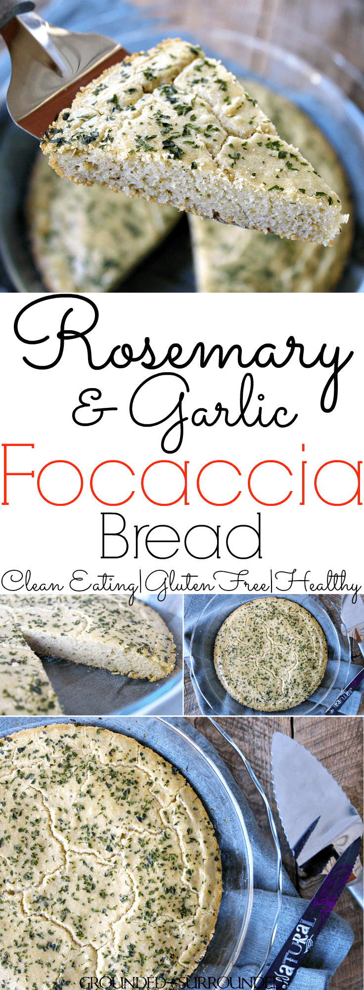 The BEST Gluten Free Focaccia Bread | This healthy and easy recipe is perfect alongside a soup or as an appetizer dipped in olive oil! The addition of rosemary and garlic make this delicious side dish a keeper. It isn't easy to find homemade and clean eating in a bread, but this one delivers! The tapioca flour, coconut flour, and eggs make this a low carb option as well as grain and dairy free.