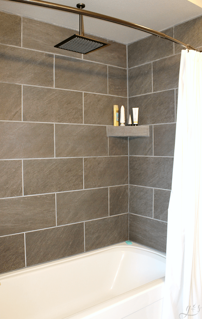 DIY: How to Tile Shower Surround Walls | HappiHomemade ...