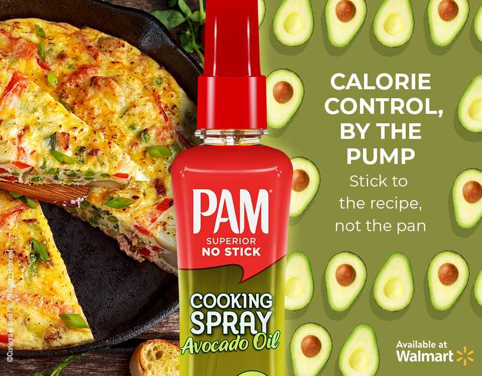 Pam Superior No Stick Avocado Oil Cooking Spray from Walmart.