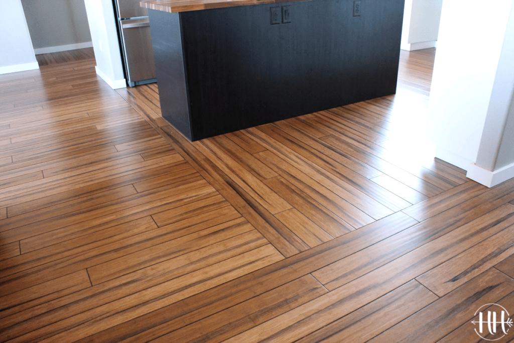 Flooring pattern in living area.