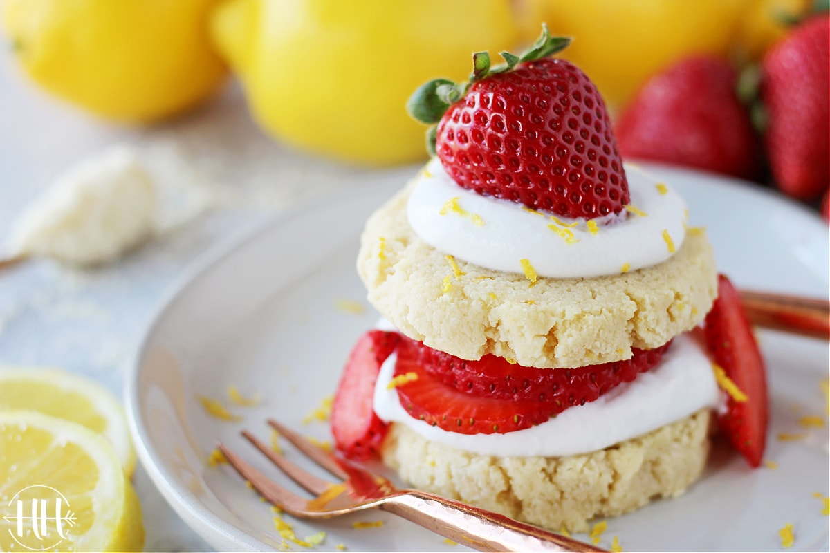 Dairy free lemon strawberry shortcakes perfect for summer!